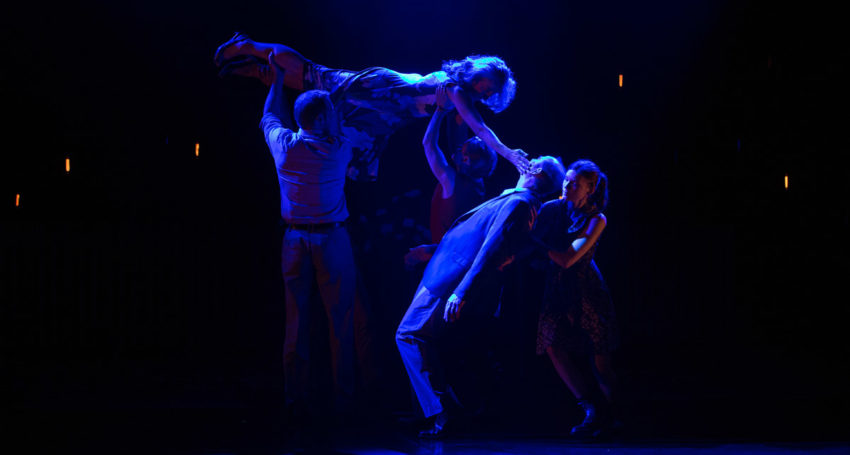 Nathan O'Keefe, Eugenia Fragos, Paul Blackwell and Tilda Cobham-Hervey in Things I Know to be True. Photo: Shane Reid