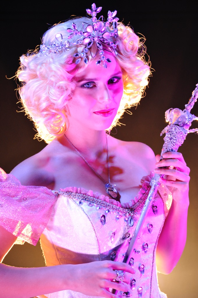 Kat Sachse as Galinda the Good Witch.
