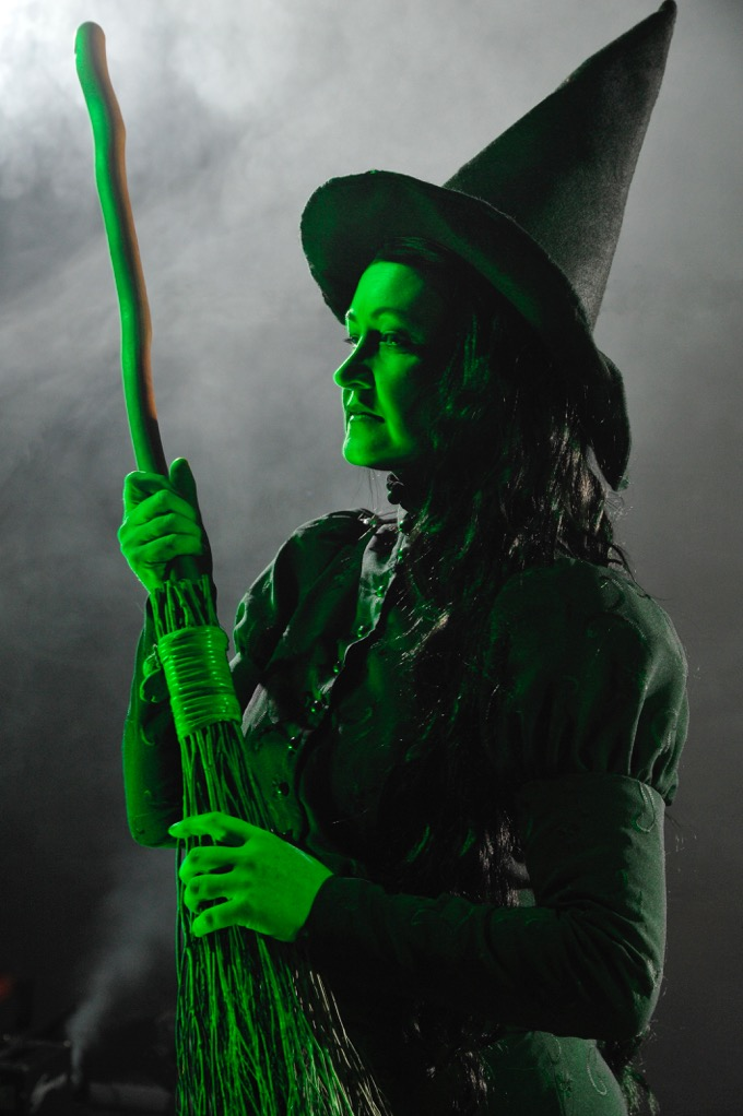 Elphaba, the Wicked Witch of the West, as played by Dianne k. Lang.