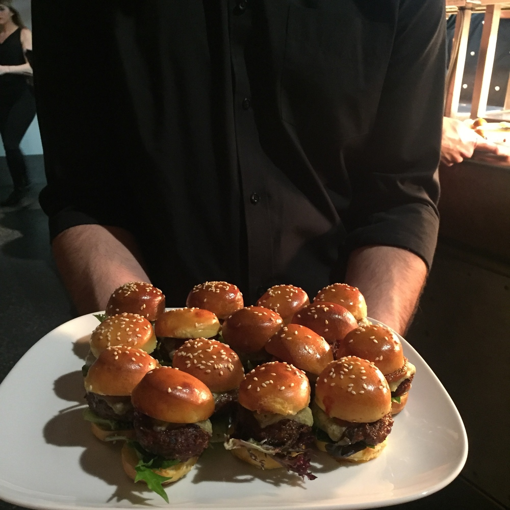 Mini burgers are alllllllways appreciated.