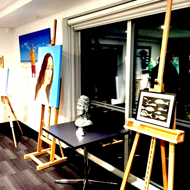 Art from staff and students of Henley High at the SALA 'Round The Square Exhibition Launch, Henley SLSC