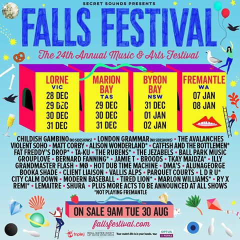 falls festival 2016 17 lineup announced this is radelaide