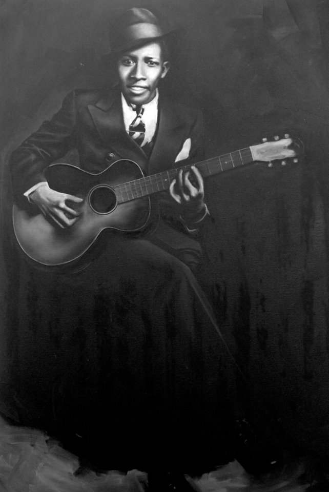 Robert Johnson by Elspeth McKellar for the All The Colours of Blue exhibition