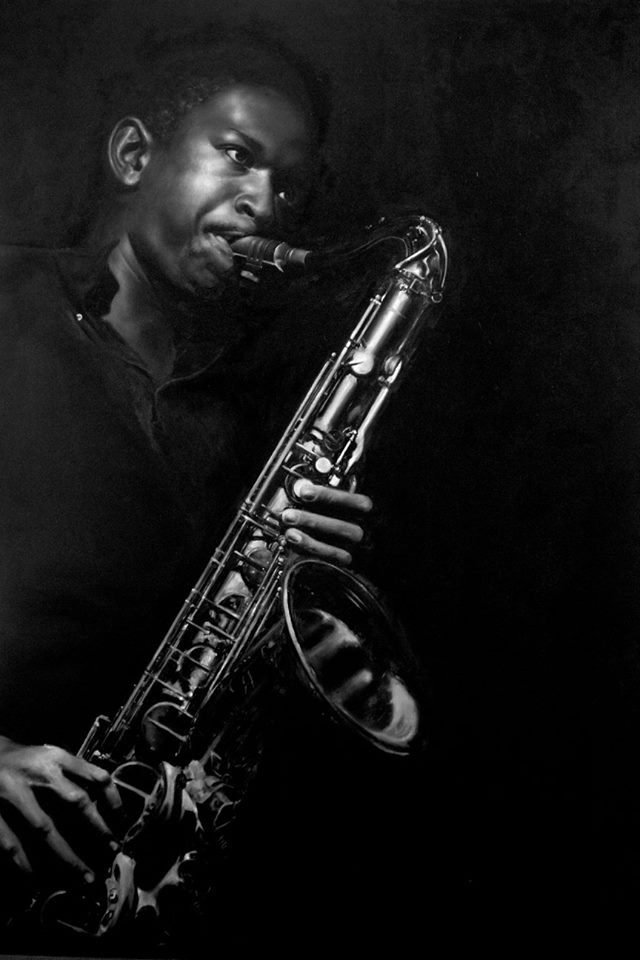 John Coltrane by Elspeth McKellar for the All The Colours of Blue exhibition