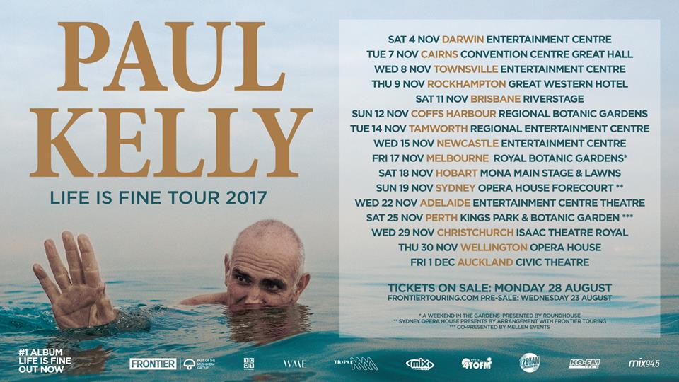 Paul Kelly Tour