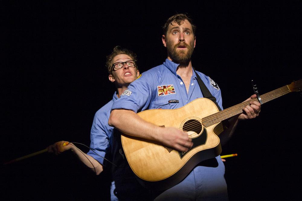 Shane Adamczak and St John Cowcher at Vancouver Fringe Festival 2016 - Photo by Rosemarie Greshmam