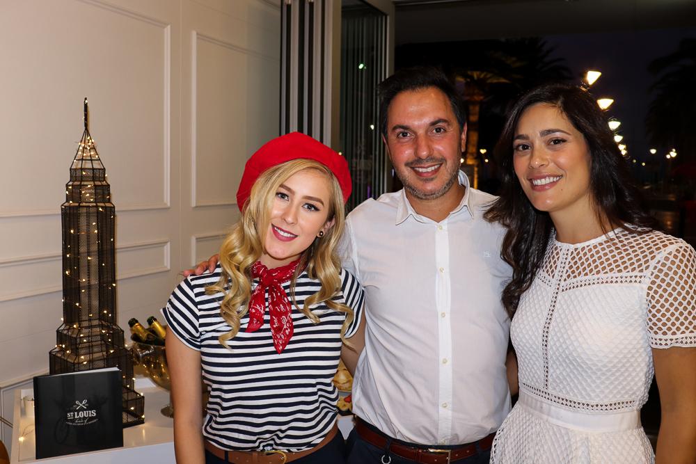 Local Talent  Tiana Riemel  with St. Louis Founders' George and Misha Karamalis