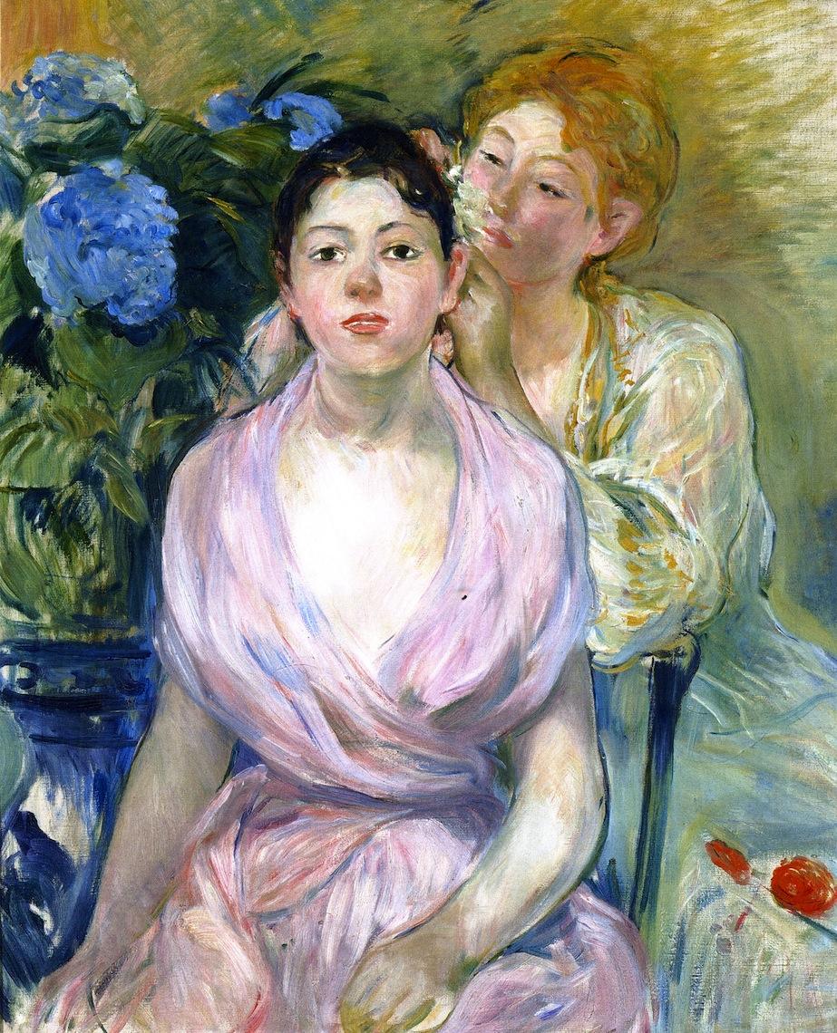 The Hydrangea by Berthe Morisot