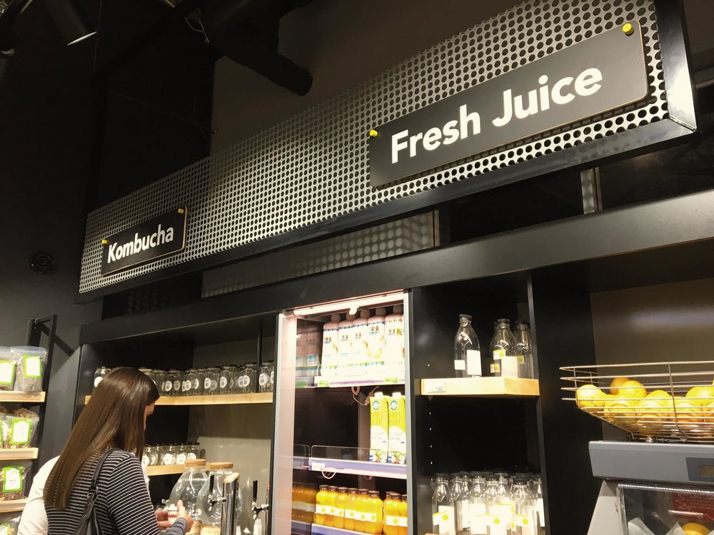 Kombucha and juice  on tap!
