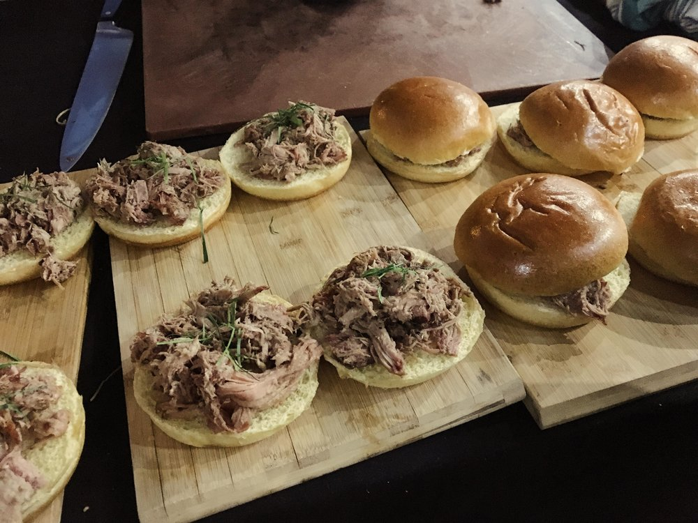 Pulled pork sliders (Korean style)