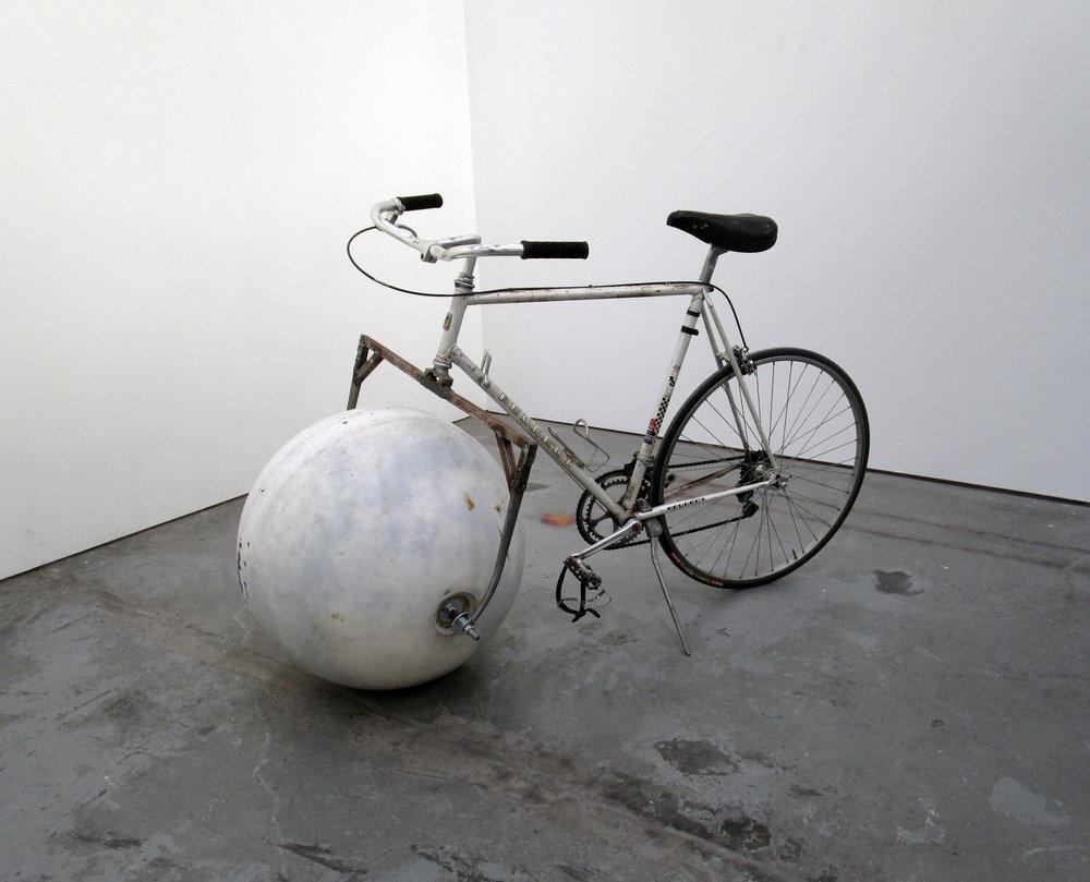 Buoy Bike, 2018. Found Buoy & Bicycle.
