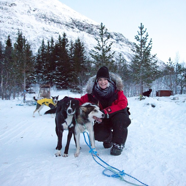 Rugged up, and happy as can be #norway #dogsledding