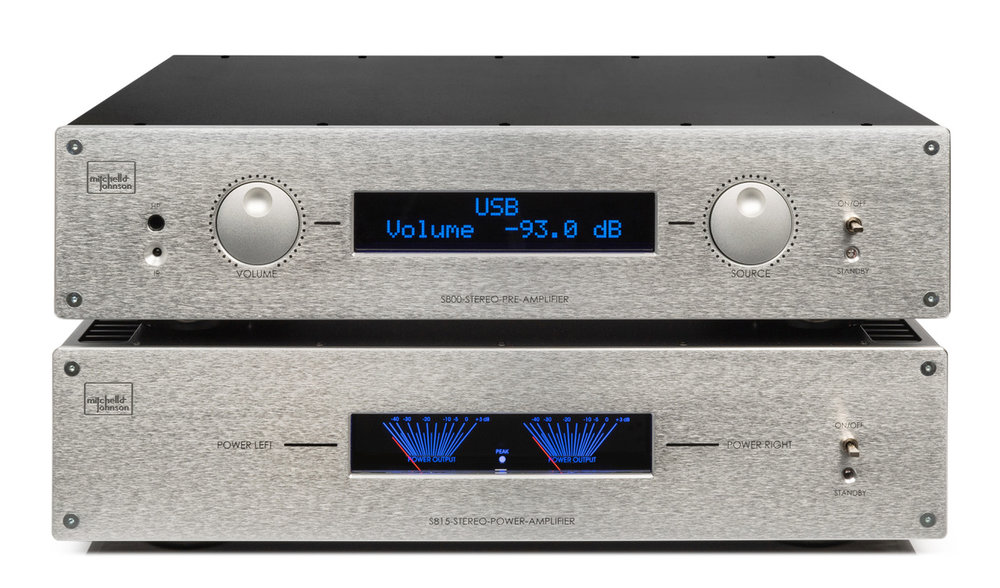 Mitchell & Johnson 800 Series pre and power amp, entirely designed and built in the UK