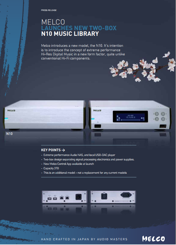 Flagship half-width N10 launch - External linear power supply for an extreme performance 3TB uncompromising library