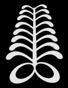 "AYA ""fern"" symbol of endurance and resourcefulness The fern is a hardy plant that can grow in difficult places. ""An individual who wears this symbol suggests that he has endured many adversities and outlasted much difficulty."""