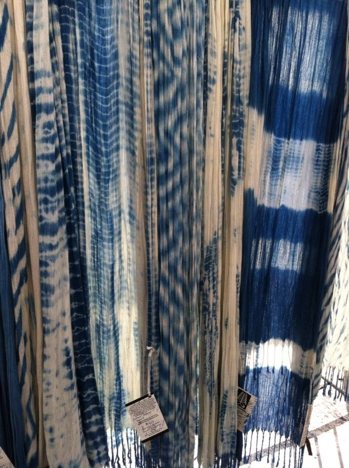 Soft Cotton scarves in beautiful blues like the sea and the sky!