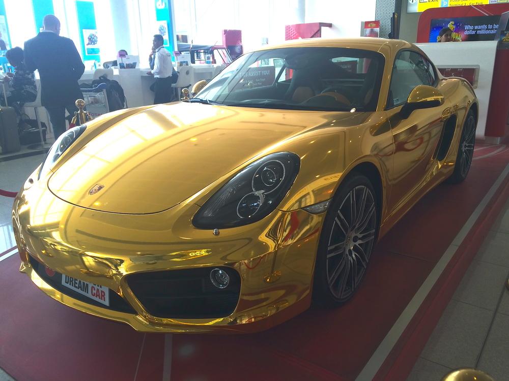 24k gold Porsche