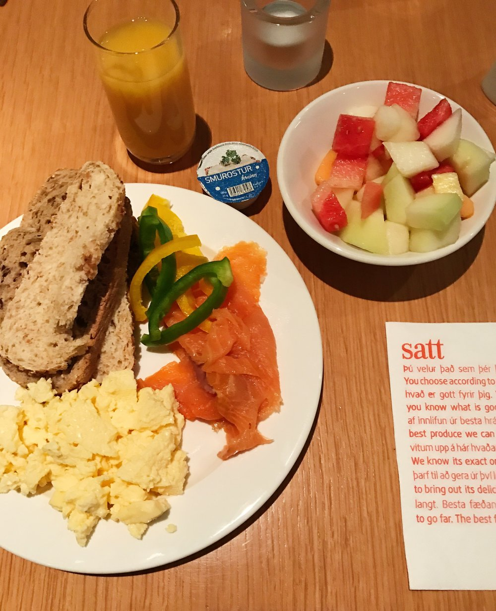 Pictured: Buffet Breakfast.  Cost: ISK 3000 per person = about $26.00