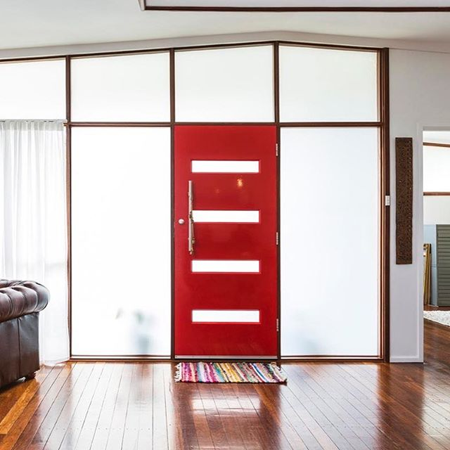 Red doors and light filled rooms.