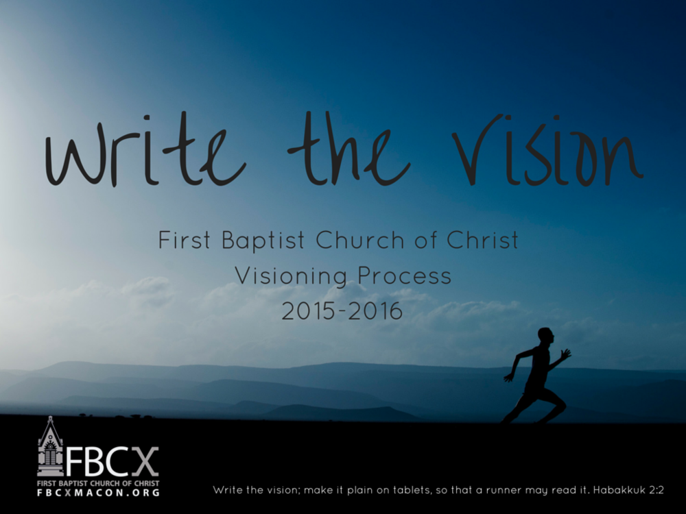 """Write the Vision"" Report"