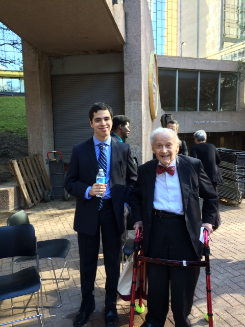 Peter Stewart, one of the original founders of Thanksgiving Square, at 94 years young