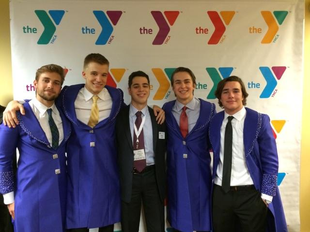 UNYC Dallas Founder, Pierce Lowary with Spanish Youth Delegates