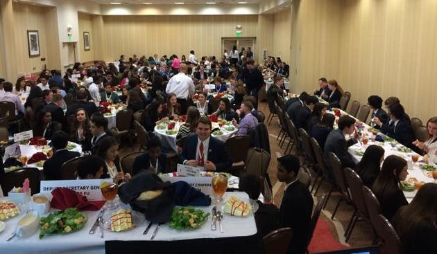 Attendees of the YMCA Dallas Model UN Assembly Event (over 250 guest in attendance)