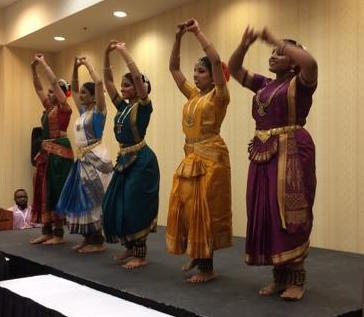 Expressions School of Dance, dancers demonstrating the Bharatanatyam style of dance from Southern India
