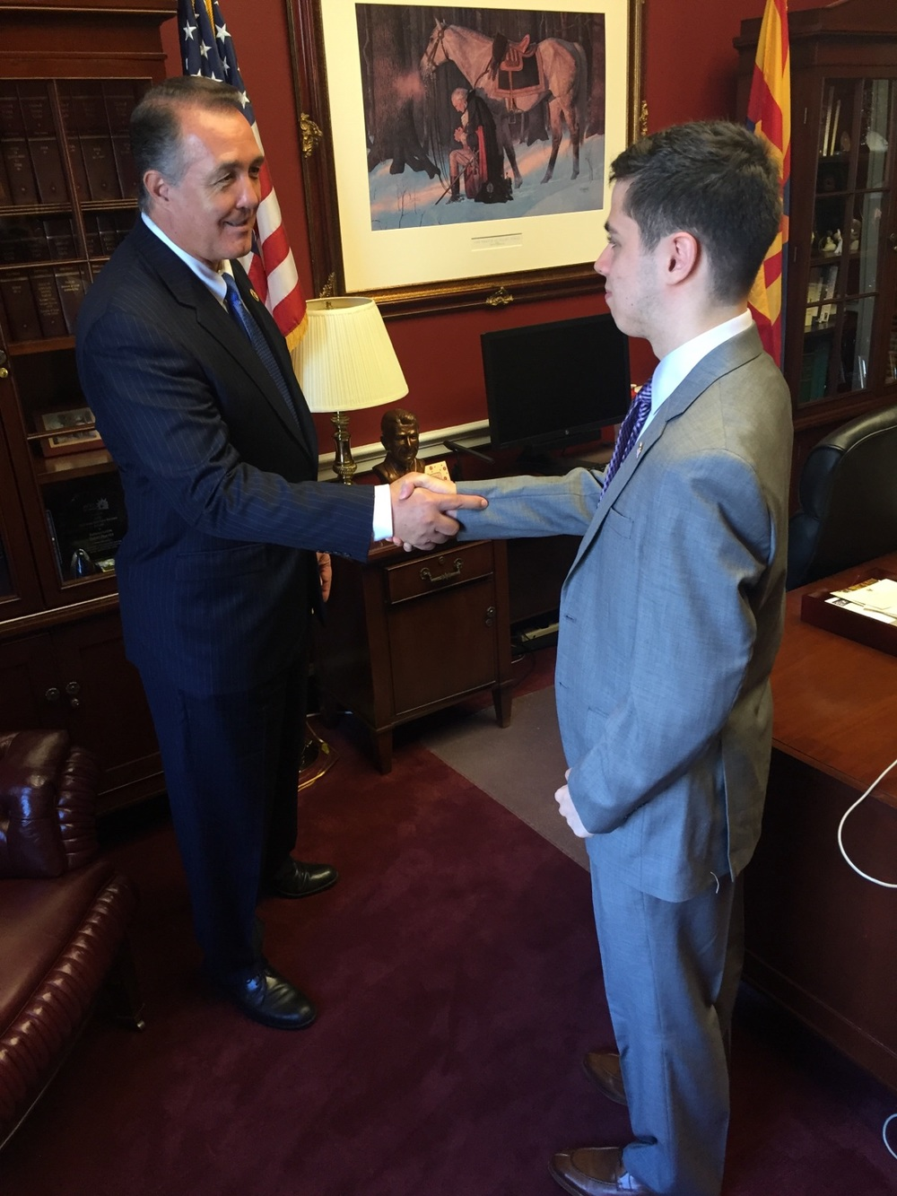 Pierce Lowary on Capitol Hill with Congressman Trent Franks