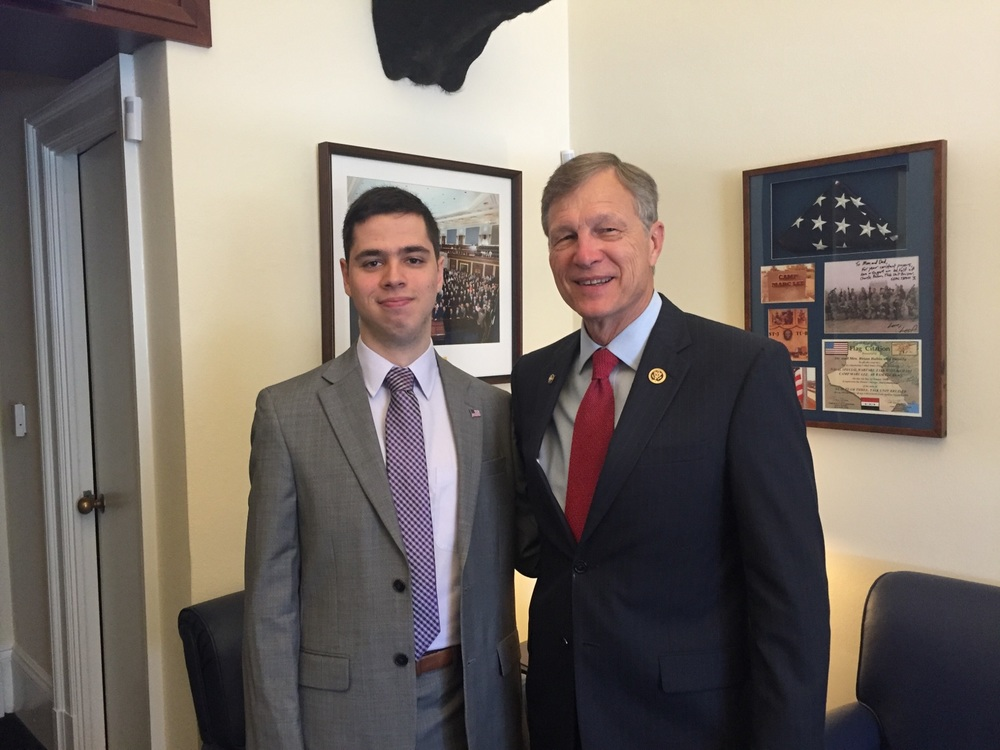Pierce Lowary on Capitol Hill with Congressman Brian Babin