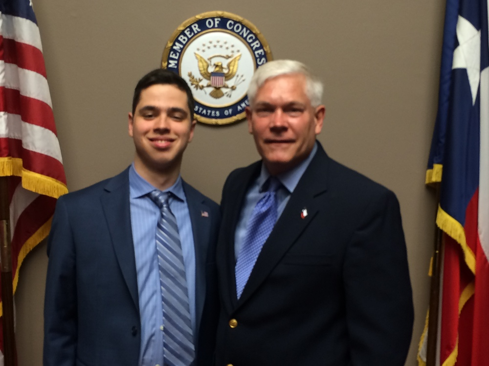 Pierce Lowary on Capitol Hill with Congressman Pete Sessions