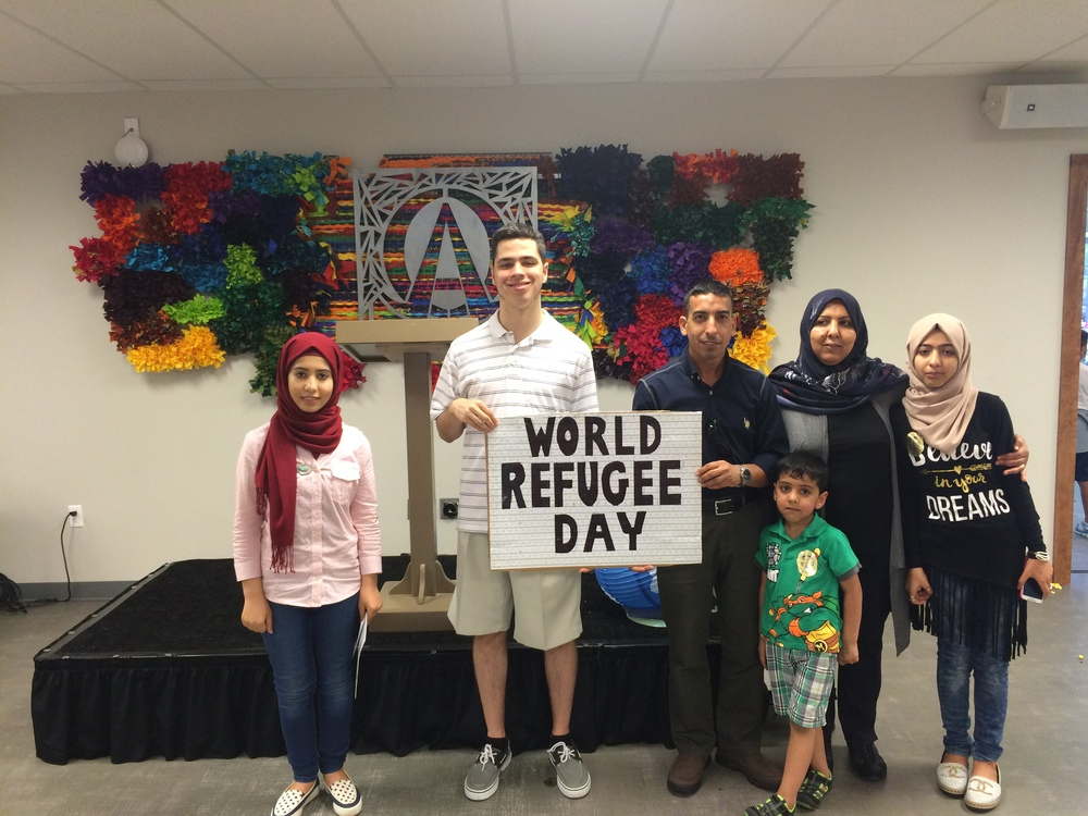 World Refugee Day with UNYC members Sura and Zahra and their family