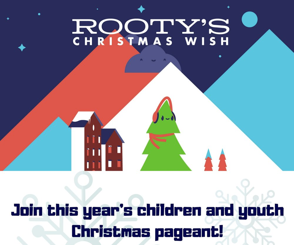 This year's Christmas pageant performances will be held at the 9 and 11 o clock services on Sunday, December 16th. Our children and youth have been working hard on this pageant all month long, and we're excited to see it! Pageant practice is every Wednesday in the Choir Room from 6-6:30