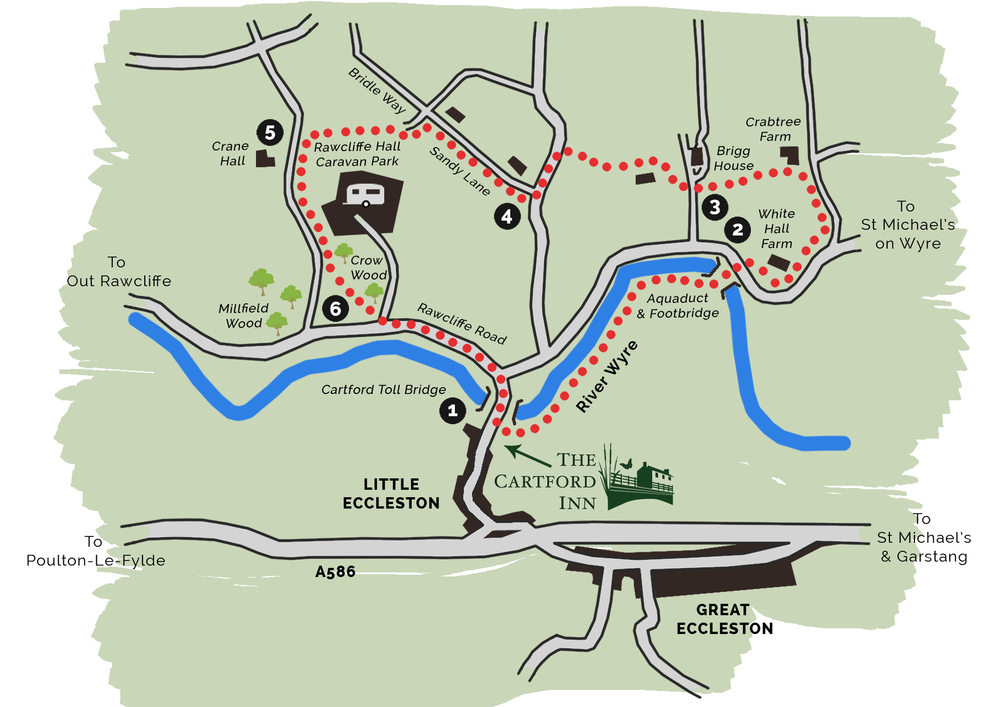 Cartford Country Walk Map