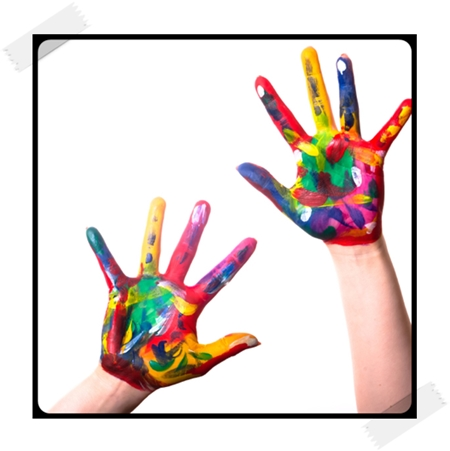 as a child I always had paint stained hands