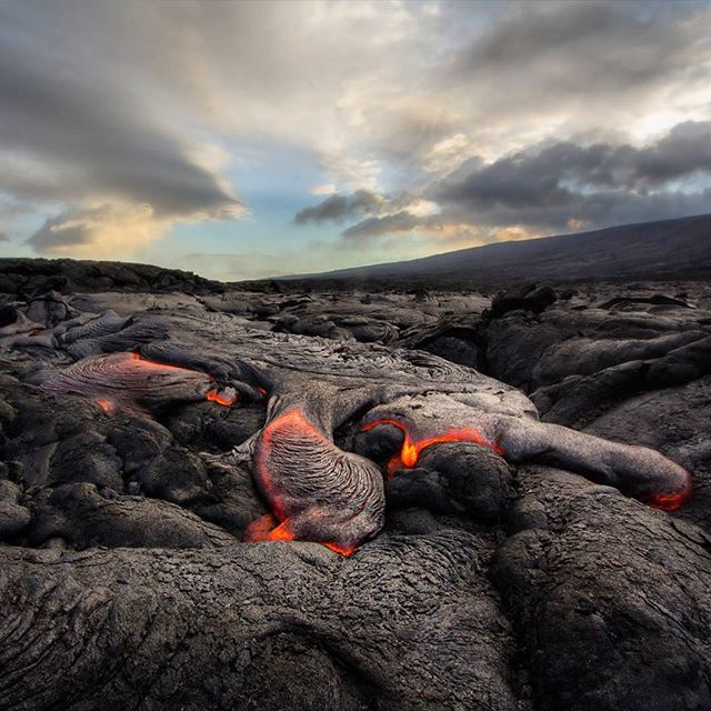 Lava cooling at 2016 Kalapana lava flow,  Hawaii.  #intlandrea#travel #travelgram#OneSmallRock#mytravelgram #natgeo#worlderlust #hawaii #lava #kalapana #hike #instablishment#slcimages#adventure#backpacking#tourism#ventureout#neverstopexploring #nature #travelphunIotography #igtravel #thrillseeker #travel#adventuretravel#natgeoinfo#SoulTravelers  @geo_tag @yourworldgallery @theimagereview @thephotosociety @hawaiimagazine