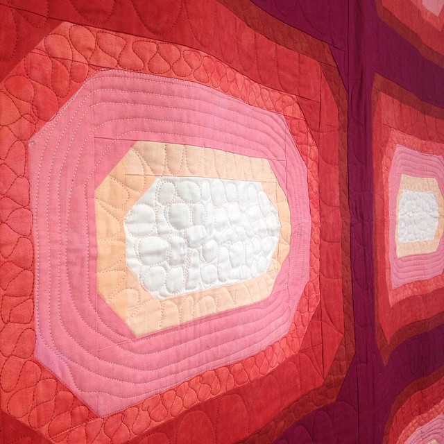 Jaime David is showing her awesome quilts tonight at KCTS. Come by and see them 6-9pm 924 E 5th St KCMO. @jaimehock #notatquiltmarket #quiltmarket