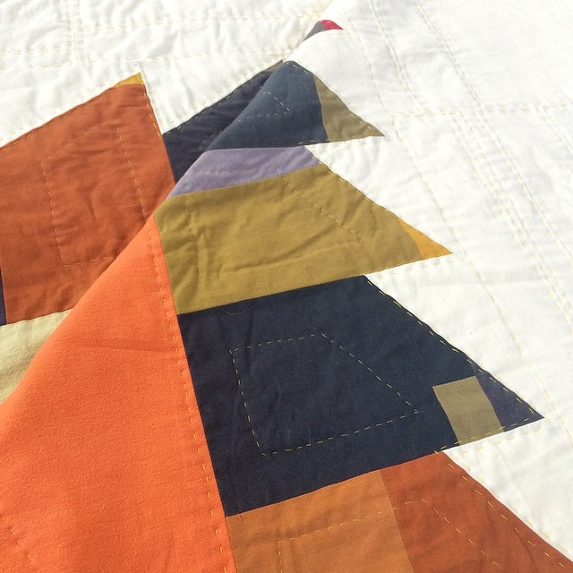Here's a little peek at one of the beautiful quilts going up for our opening this Friday. Come see Hannah Johnston's work 6-9 at the KC Textile Studio.