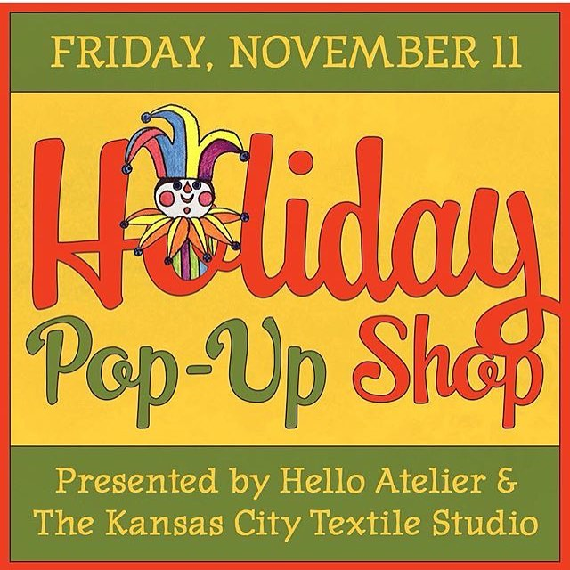 Join us tonight 5-8 for a special pop up shop including @kimemquilts @sweetdestructor @ecbp500 @theporterhaus.kc @decoylab @owlandmouse