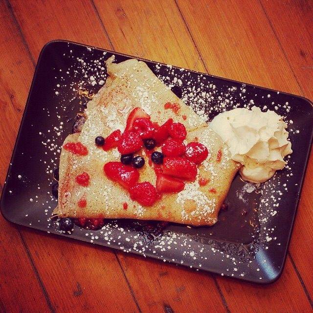 Berries and Cream crepe at Wunderbar.