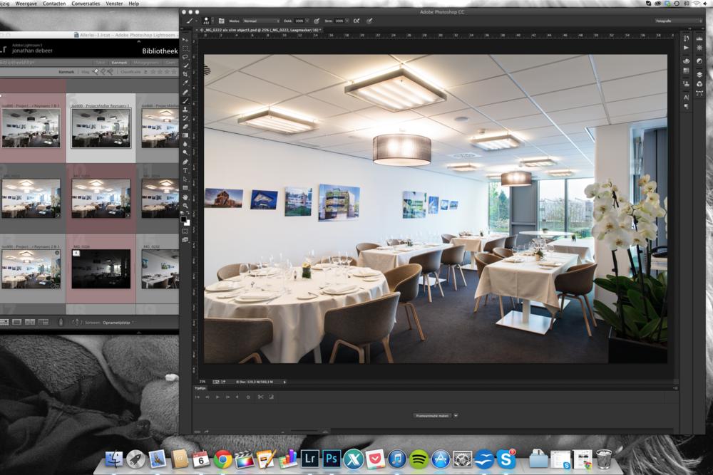 Toutes les images sont traitées séparément avec comme résultat un reportage uniforme.
