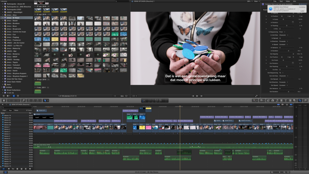 A timeline in our editing software.