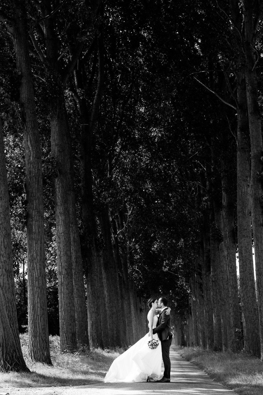 Een bruid met een geweer. Een fladderend trouwkleed in de Wase haven. Een koppel absolute lieverds met een schitterende openingsdans in Brebonna. De huwelijksfotografen van iso800 stellen aan u voor: Linde en Tom. Bruidspaar tussen de bomen.