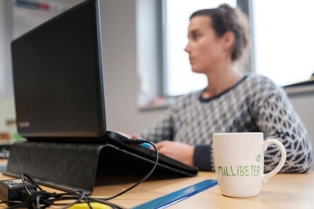 iso800 green Millibeter bedrijfsreportage kantoor