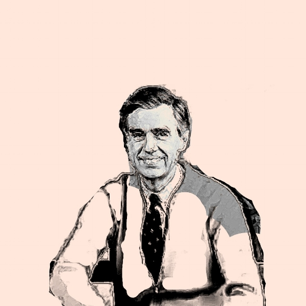 portrait of Fred Rogers (Mister Rogers) by Tamra Carraher