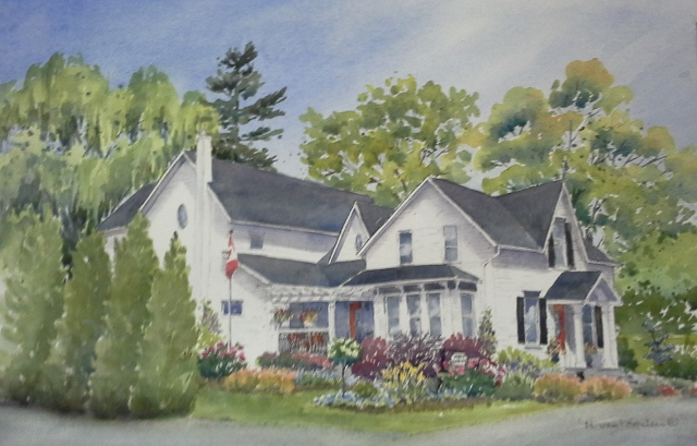 Helen Van Porten's sketch of Nine Gables
