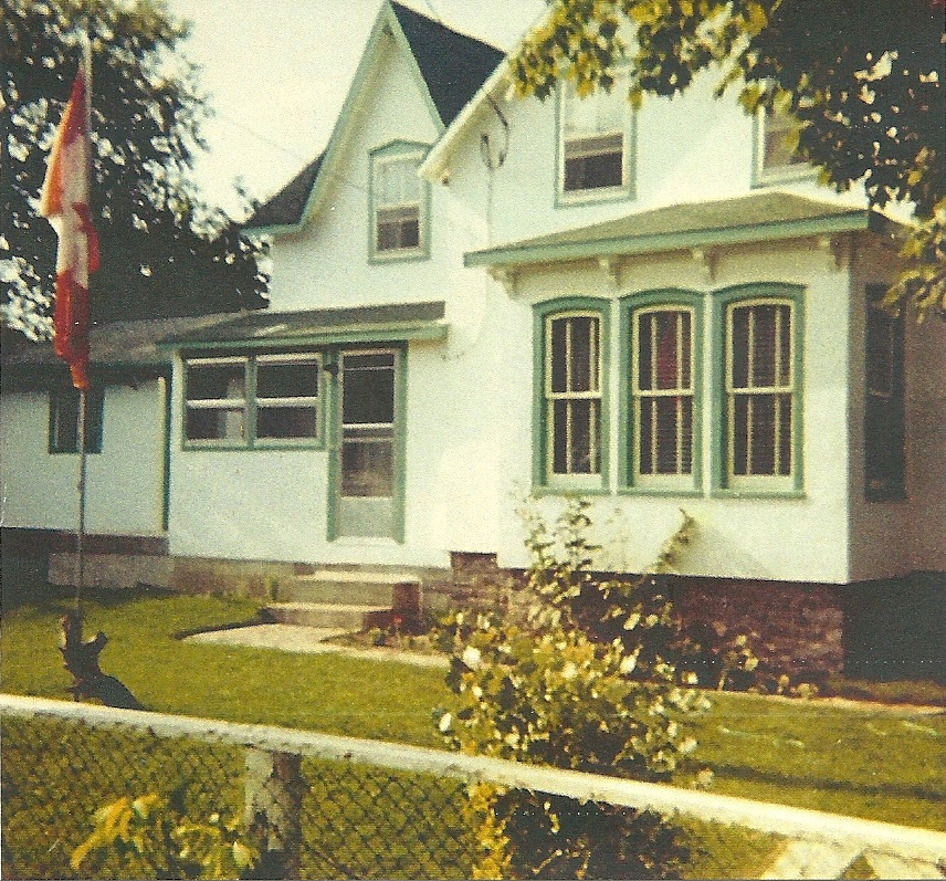 South side before family room addition - circa 1965