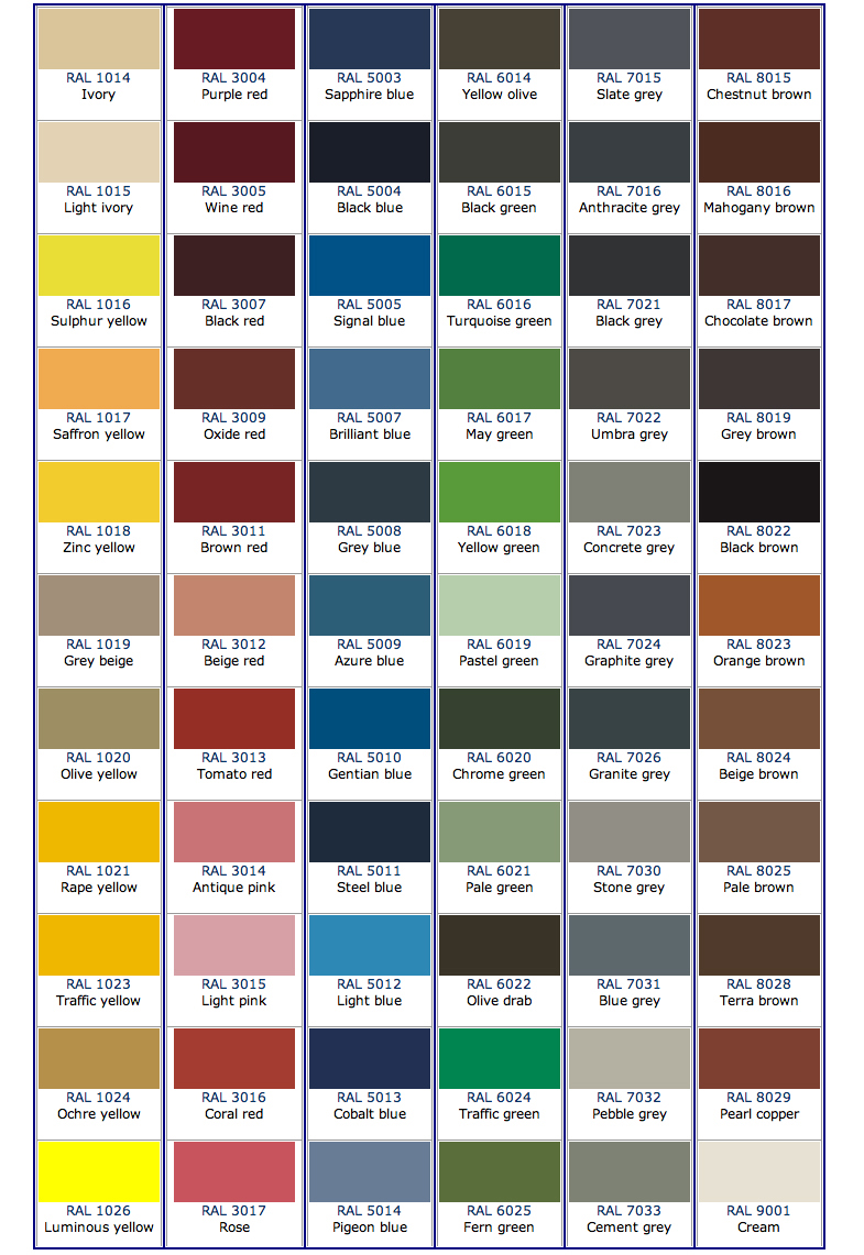 full ral color chart related keywords full ral color. Black Bedroom Furniture Sets. Home Design Ideas