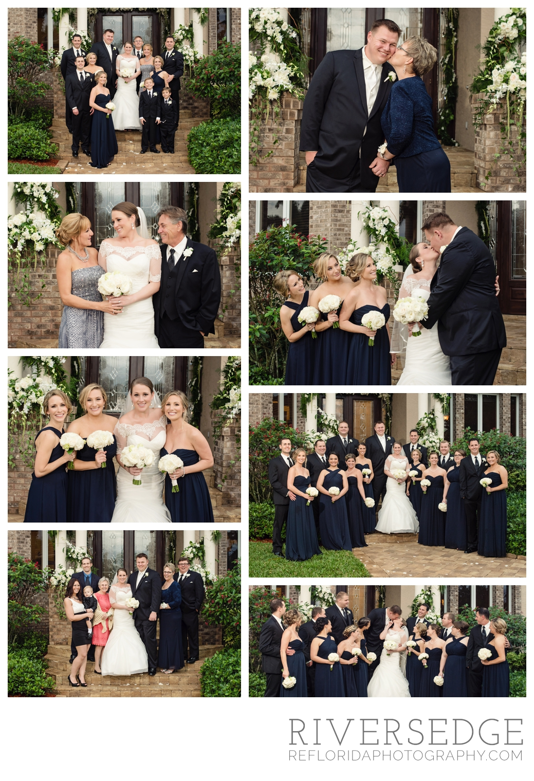 family wedding photos