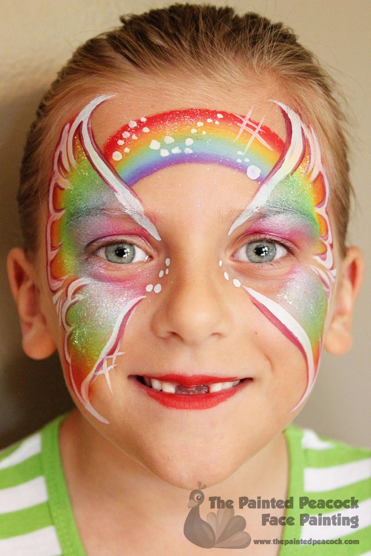 #RainbowButterflyFacePaint #FacePaint